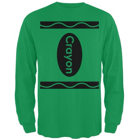Halloween Crayon Costume Irish Green Adult Long Sleeve - Halloween Experience Ireland