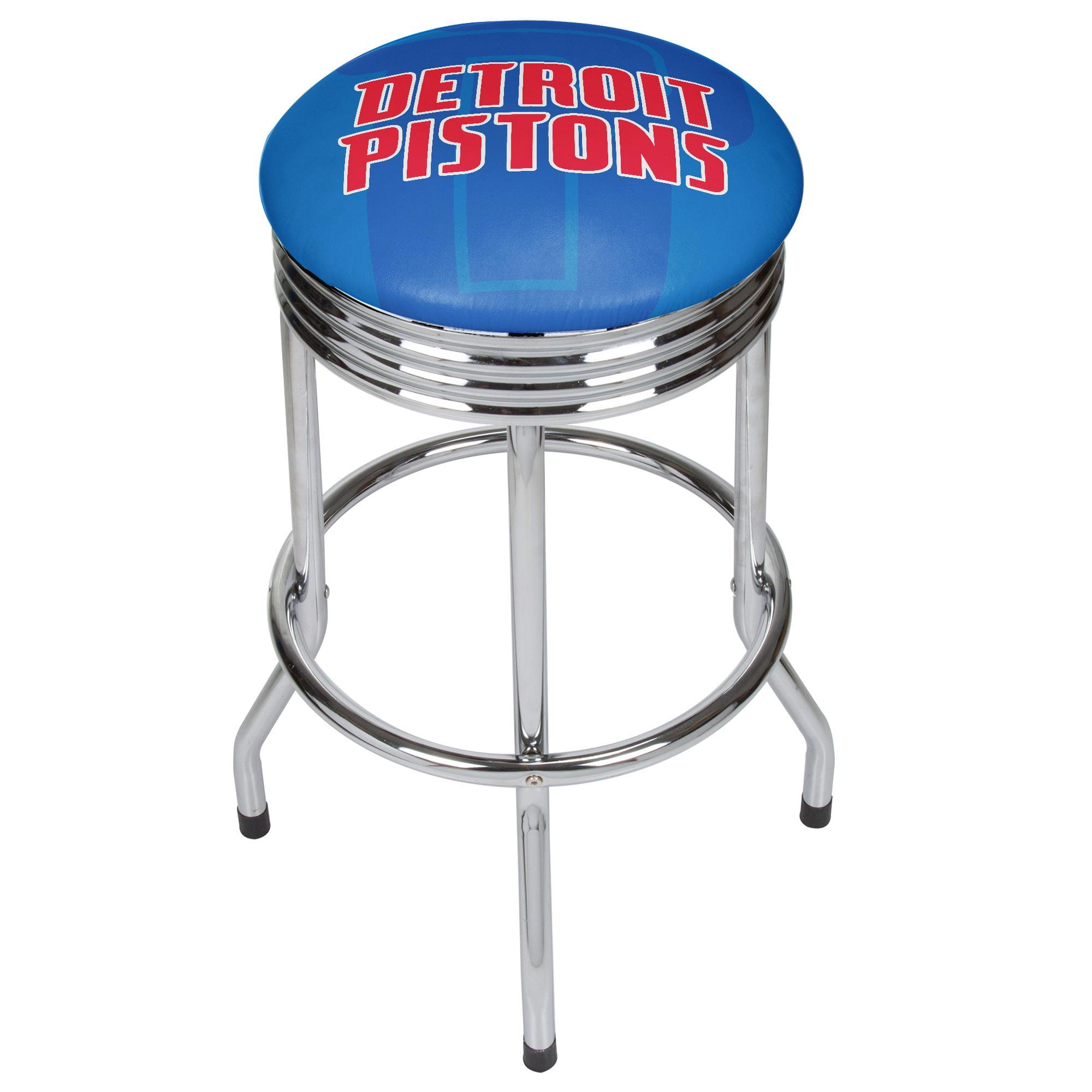 NBA Chrome Ribbed Bar Stool - Fade - Detroit Pistons