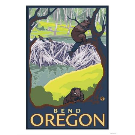 Beaver Family, Bend, Oregon Print Wall Art By Lantern - Halloween Store Bend Oregon
