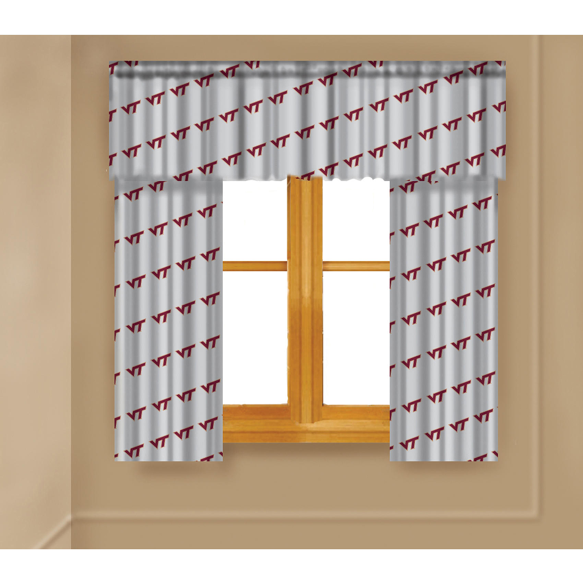 NCAA Virginia Tech Hokies Window Curtain Panels