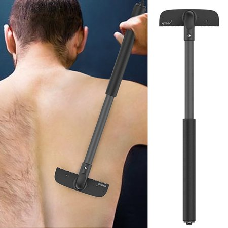 Portable Manual Back Hair Shaver Remover Razor for Men,XPREEN Adjustable Back Hair Removal Body Groomer Trimmer,Pain-Free Body Hair Shaver For Mens Grooming Perfect Wet or