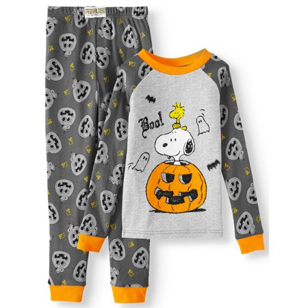 Bananas In Pyjamas Halloween (Peanuts boys' halloween pumpkins 2-piece tight fit cotton pajama)