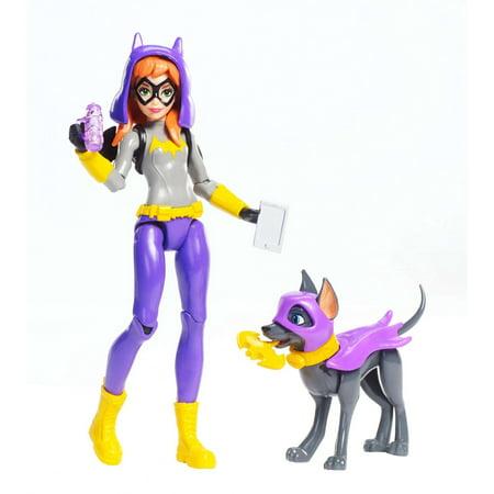 DC Super Hero Girls Batgirl 6-Inch Action Figure with Pet Dog, (Bronze Medallion Girls Figure)