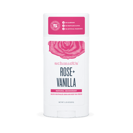 Schmidt's Rose + Vanilla Natural Deodorant Stick (2.65 oz.) (Best Rated Natural Deodorant)