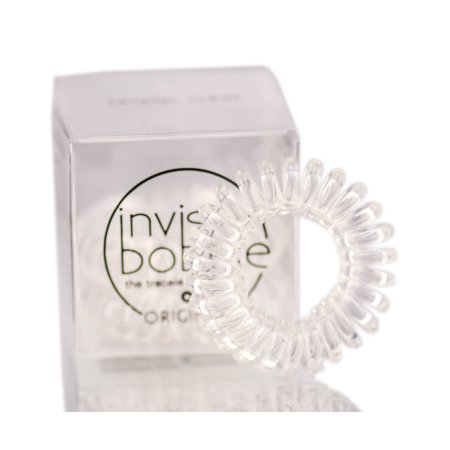 Clear Crystal Cocktail Ring - Invisibobble The Traceless Hair Ring - 'Original' (Color : Crystal Clear)