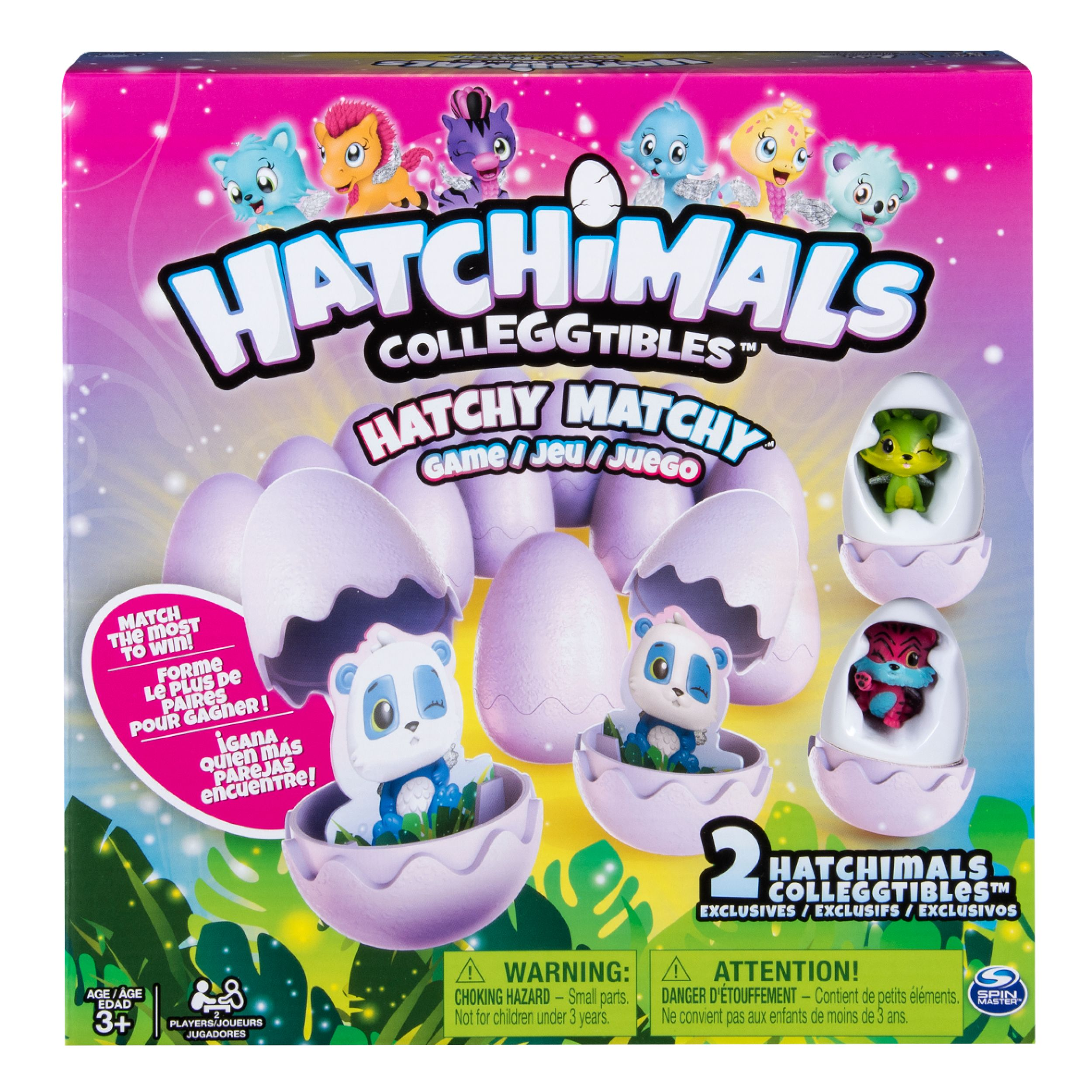 Hatchimals - Hatchy Matchy Game with Two Exclusive CollEGGtibles