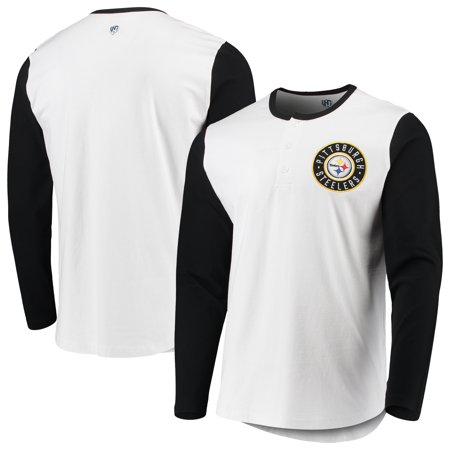 reputable site ef591 a8cb8 Pittsburgh Steelers G-III Sports by Carl Banks Tradition Henley Long Sleeve  T-Shirt - White/Black