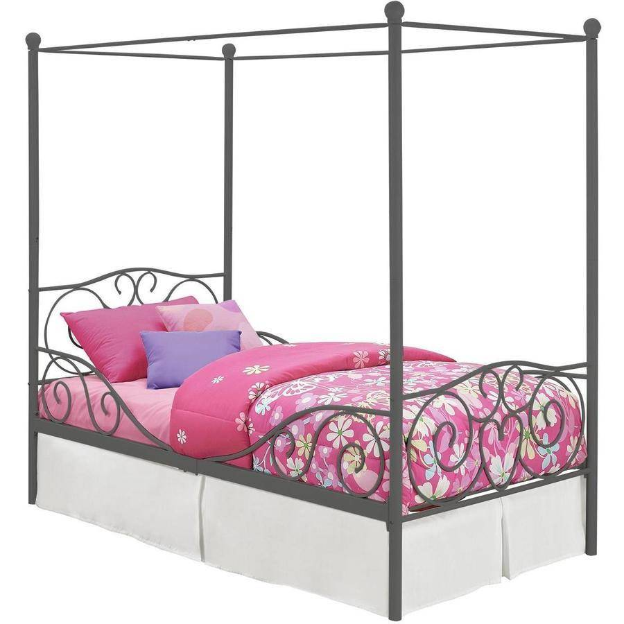 DHP Canopy Metal Bed Frame, Twin Size, Multiple Colors