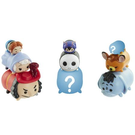 Tsum Tsum 9-Pack Figures - Hans, Fairy Godmother, Bambi, Jack, Hiro, Eeyore, Captain Hook & Mystery Figures - Captian Hook