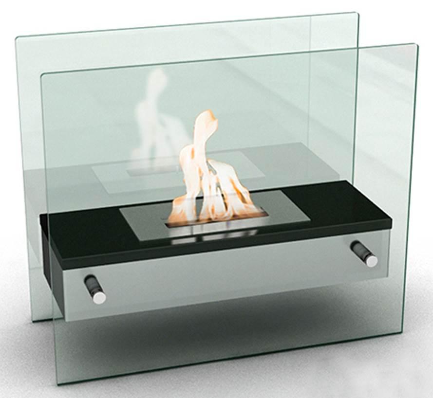 Naples H Tabletop Firepit Bio-Ethanol Ventless Fireplace