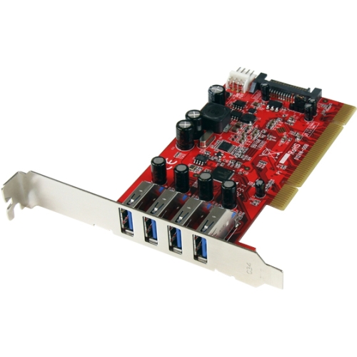 Startech PCIUSB3S4 4 Port Pci Usb 3.0 Card W/ Sata Power