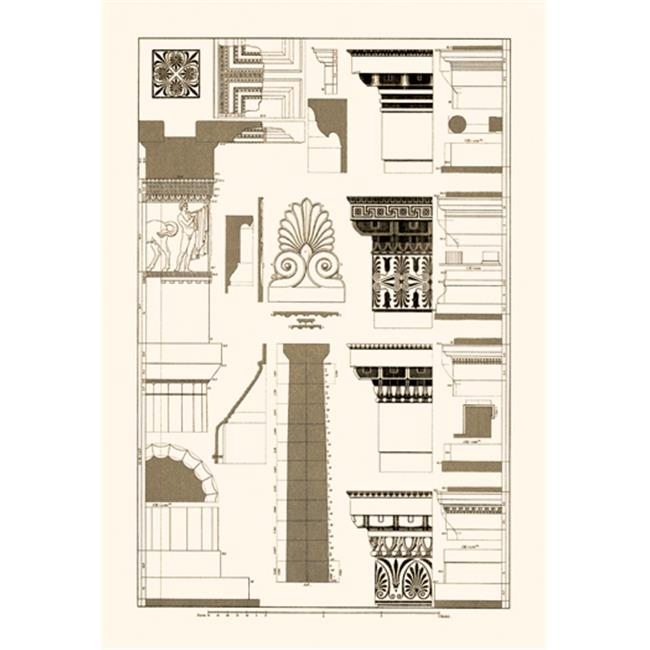 Buy Enlarge 0-587-09335-8P20x30 Details of the Parthenon at Athens- Paper Size P20x30
