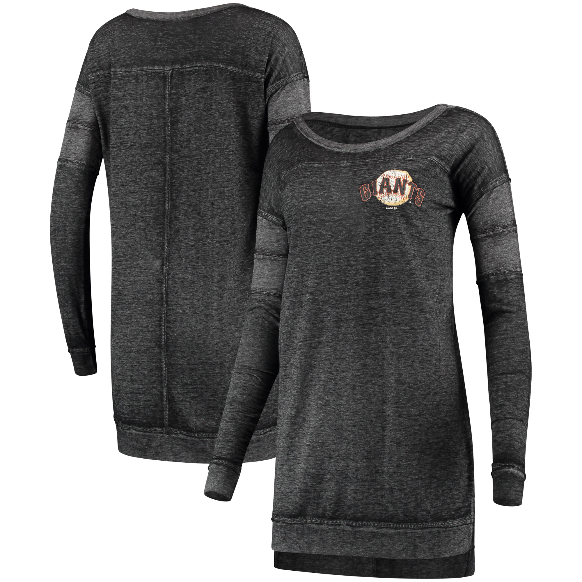 San Francisco Giants Concepts Sport Women's Touchstone Nightshirt - Black