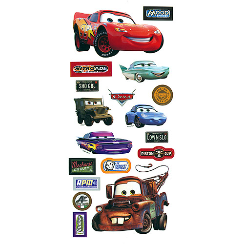 Disney cars stickers borders packaged cars
