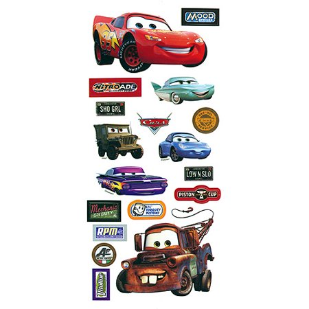 Disney Cars StickersBorders PackagedCars Walmartcom - Stickers for the car