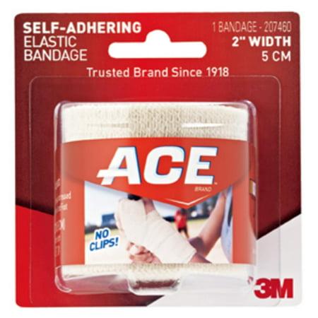 ACE Brand Self-Adhering Elastic Bandage, 2 in., Beige, 1/Pack