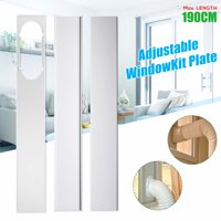 "3Pcs Adjustable Window Kit Plate Accessories Window Slide Kit For Portable Air Conditioner 75""(190cm) Length"
