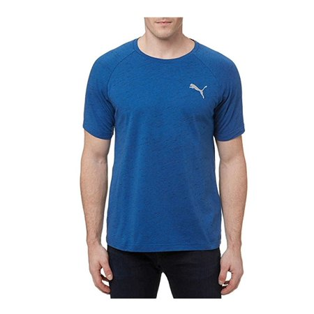 Puma Running Tee - Puma Men's Evostripe Tee Shirt Crew Neck Medium Blue