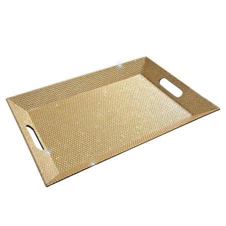 Gold Serving Trays (Mercer41 Cresta Serving Tray)