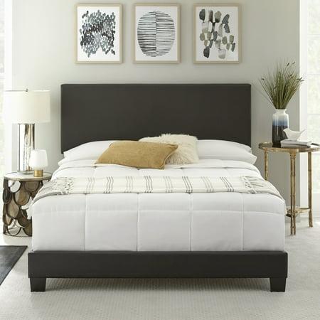 Premier Sutton Upholstered Faux Leather Platform Bed Frame, Multiple ...