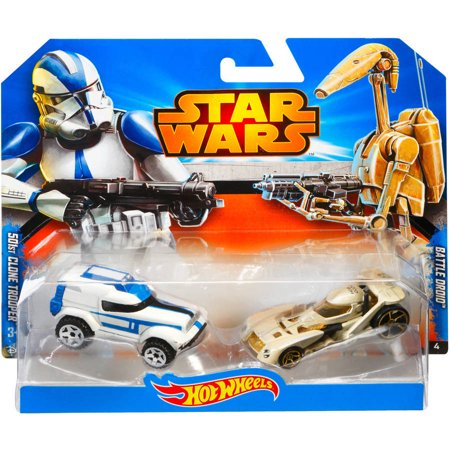 Hot Wheels Star Wars Clone Trooper And Battle Droid