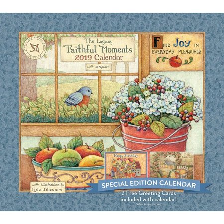 2019 Faithful Moments Special Edition Wall Calendar,  by Legacy Publishing Group