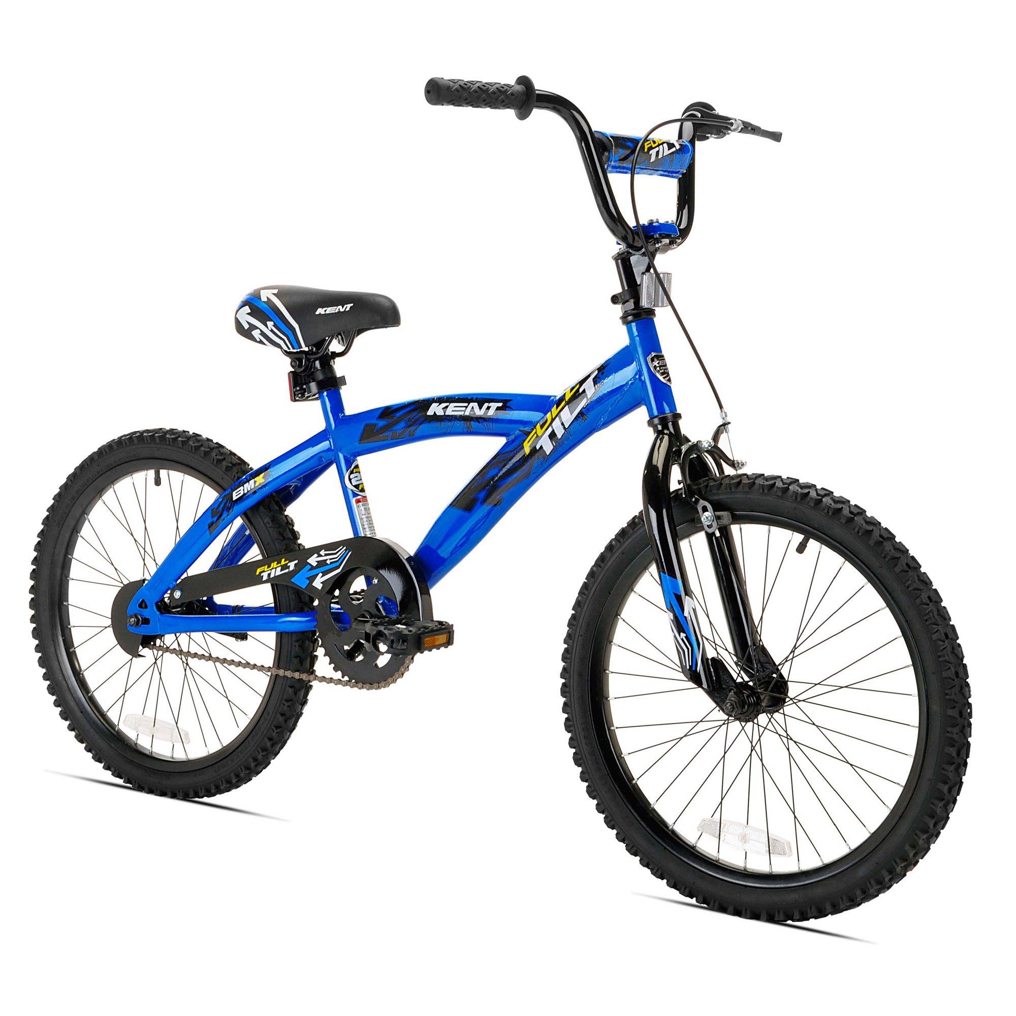 "Kent 20"" Full Tilt Kids Steel BMX Bike with Steel Rims & Freestyle Tires, Blue"