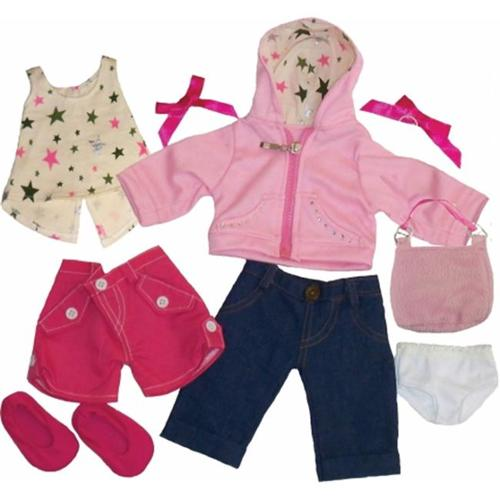 Get Ready 1323 Kids Doll Clothes, 11 Pieces Girl Set