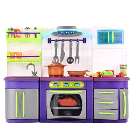LeadingStar Battery Powered Plastic Play Kitchen Set Pretend Play ...