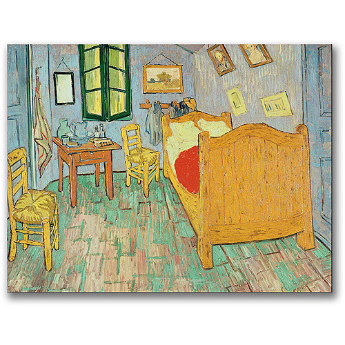 "Trademark Fine Art ""Van Gogh's Bedroom At Arles"" Canvas Wall Art by Vincent van Gogh"