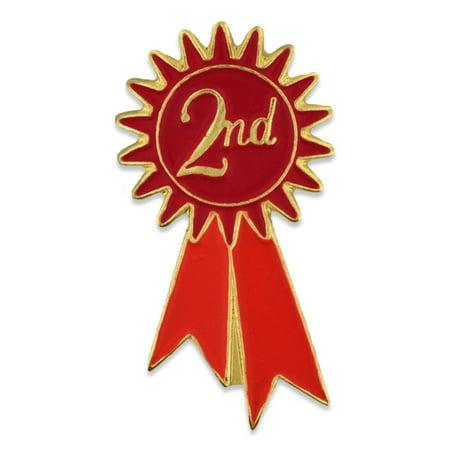 PinMart's 2nd Place Prize Red Ribbon Enamel Lapel
