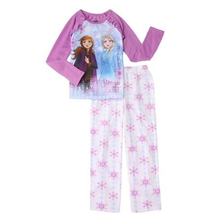 Frozen 2 Girl's Ana & Elsa 2-Piece Pajama Set (Little Girls & Big Girls)