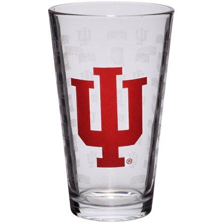 Indiana Hoosiers 16oz. Sandblasted Mixing Glass - No (Indiana Hoosiers Glass)