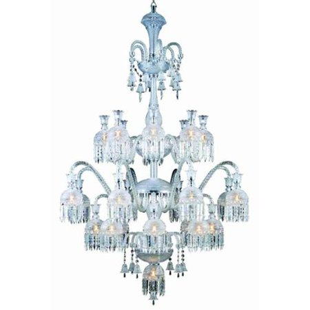 19-Light Chandelier in Chrome by