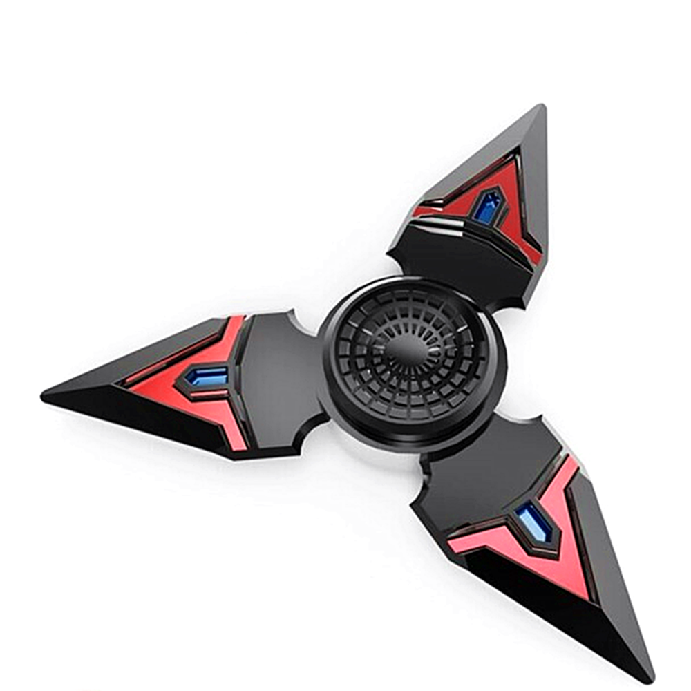 Peralng EDC Spinner Fidget Toy High Speed Stainless Steel Bearing ADHD Focus Anxiety Relief Toys Ultra Durable High Speed 3-5 Min Spins Zinc Alloy Materia black Color