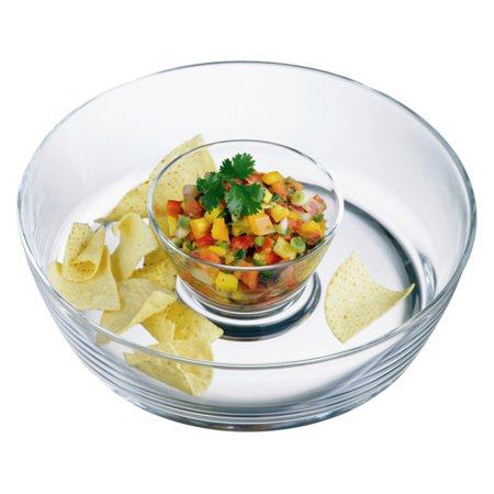 Luigi Bormioli Michelangelo Chip-n-Dip Glass Bowl](Halloween Chip And Dip Set)