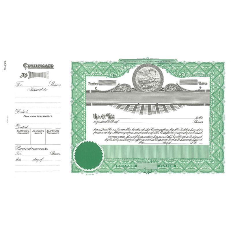 Goes 199 Kansas Stock Certificate - Pack of 25