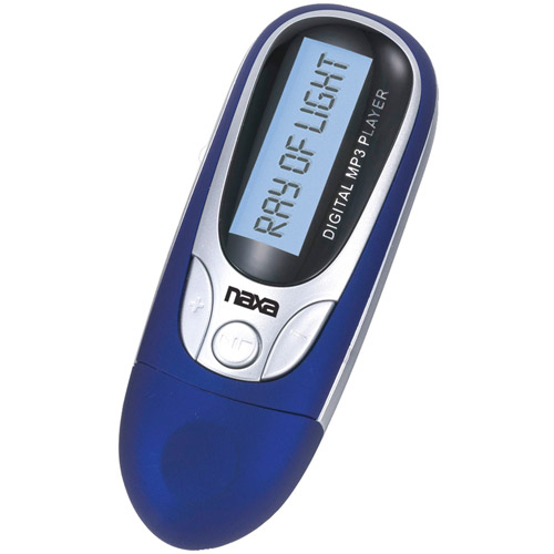 Naxa 4GB MP3 Player with FM Radio, Blue, NM105
