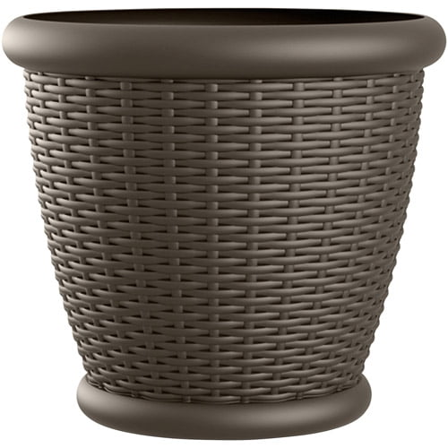 "Suncast 18"" Wicker Planter, Java, Contains 2 Planters by Generic"