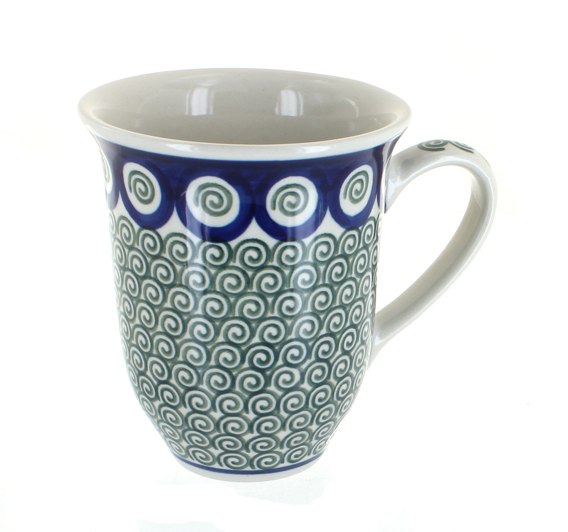 Polish Pottery Peacock Swirl Large Coffee Mug - Walmart.com
