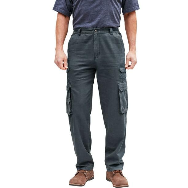 Kingsize Premium Pants Mens 56 x 38 Black Unhemmed