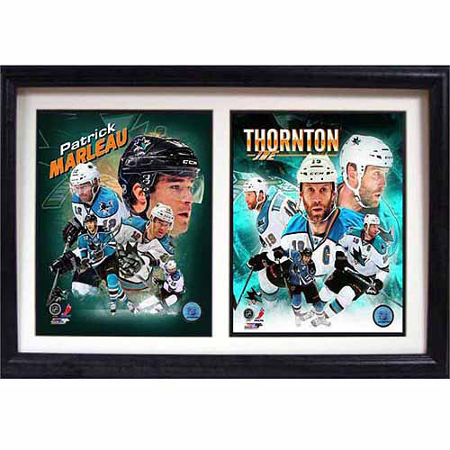 NHL San Jose Sharks Dynamic Duo 12x18 Double Frame