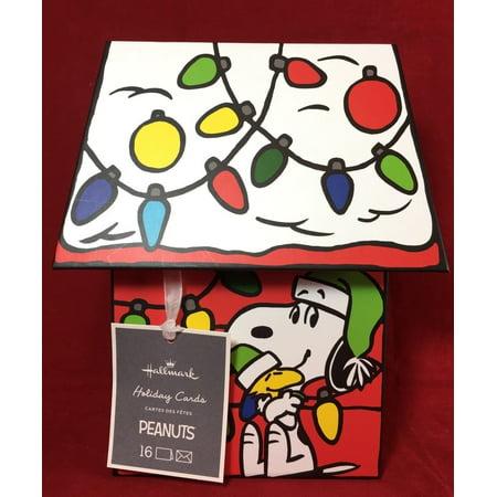 hallmark christmas house boxed glitter cards w snoopy hallmark peanuts christmas cards in decorated doghouse