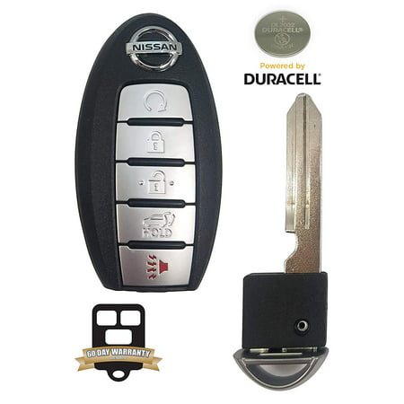 REMOTE STORE BUNDLE - NEW OEM 5-Button 2017 2018 Nissan Rogue Keyless Entry Remote w/REMOTE STORE Uncut Key Insert ()