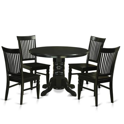 East West Furniture Shelton 5 Piece Dining Set Walmart