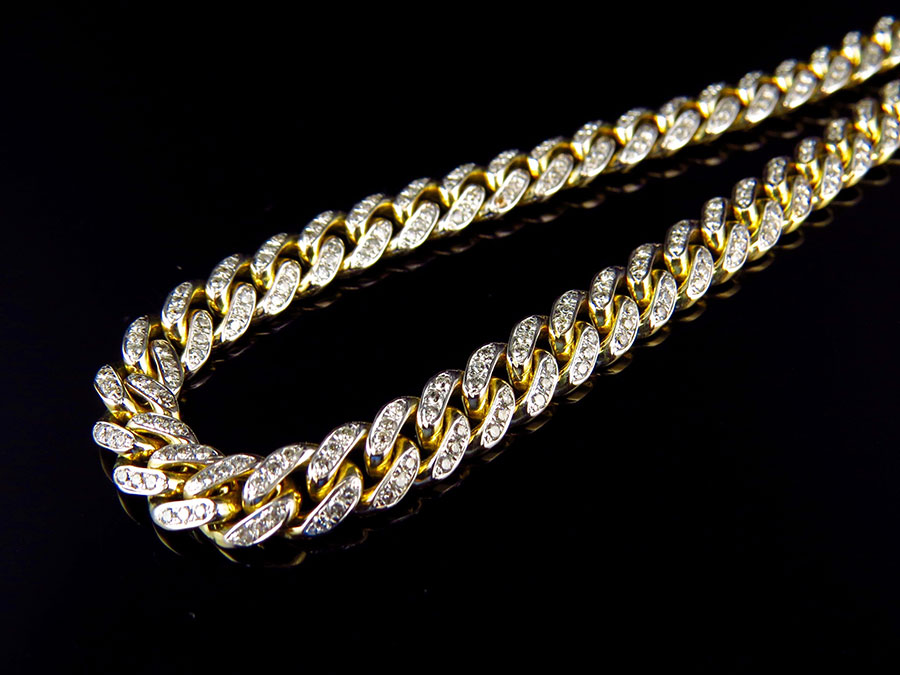 Solid Yellow Gold Diamond Miami Cuban Link Chain Necklace 6MM 24 Inch (7.0t) by Jewelry Unlimited