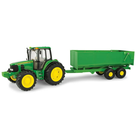 John Deere Big Farm Lights and Sounds Tractor with Wagon