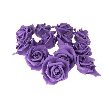 Foam Roses Flower Head Embellishment, 3-Inch, 12-Count, Purple - Foam Flower