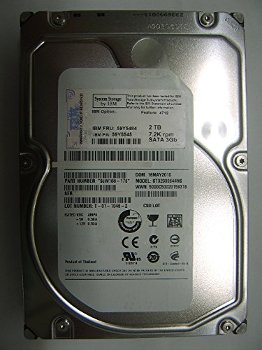 IBM 9JW168-176 IBM 2TB 7200RPM 3.5 NL SATA HARD DRIVE sbk102507 vender ibm model ibm 4712 59y5484 59y5545... by IBM