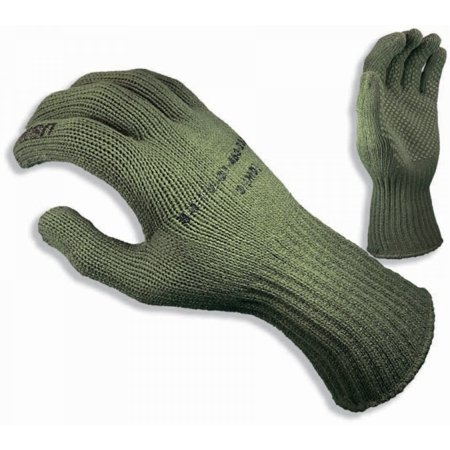 Rothco Manzella USMC TS-40 Gloves - Olive Drab, Small Olive Drab Wool Glove